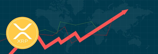 다중 색상 배경 및 세계 지도의 다중 색상 메트릭 및 그래프에 대한 xrp 리플