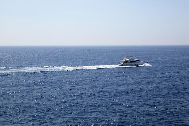 Yacht, boat cruising mediterranean sea