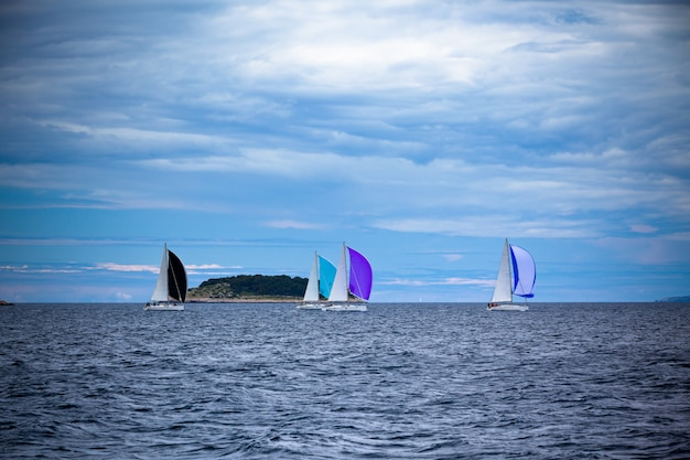 Yacht regatta at adriatic sea