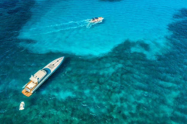 Yachts at the sea