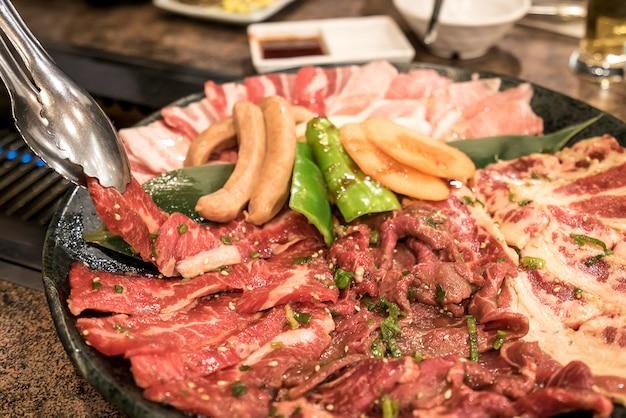 Yakiniku meat set
