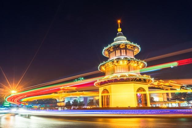 Yangzhou urban scenery and roads, traffic