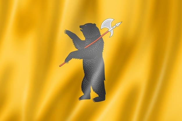 Yaroslavl state - oblast -  flag, russia waving banner collection. 3d illustration
