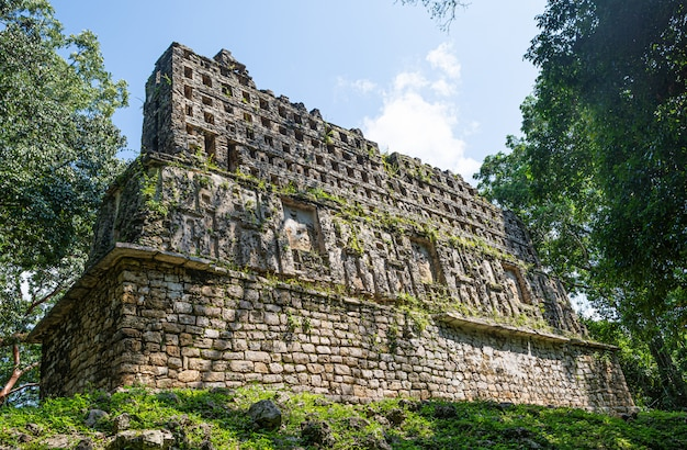 Yaxchilan ruins at mayan archaeological site