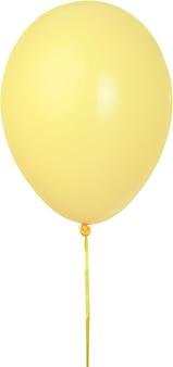 黄色い気球。スタジオショット。孤立したパスと白い背景