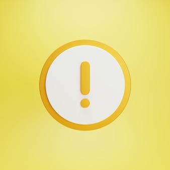 Желтая кнопка предупреждения и предупреждающий знак
