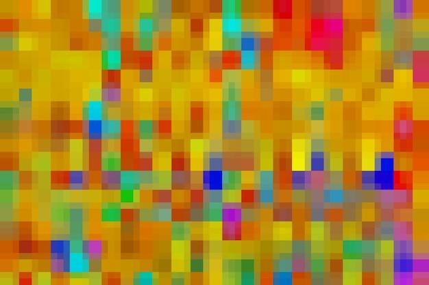 黄色とオレンジ色のモザイクの抽象的なテクスチャの背景、グラデーションの壁紙のパターンの背景