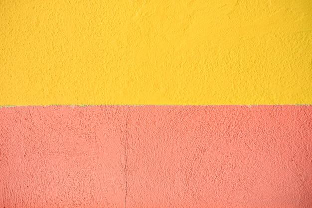 黄色とオレンジ色のテクスチャセメント壁の背景
