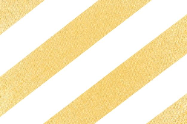 질감 된 배경으로 노란색과 흰색 줄무늬 직물