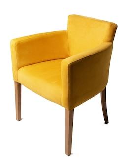 Желтое кресло, изолированные на белом фоне