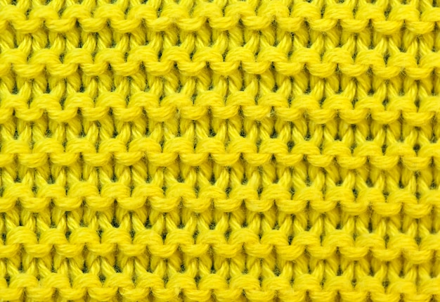 Yellow background of knitted