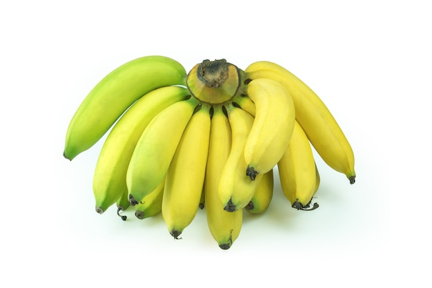 Yellow banana healthy breakfast.