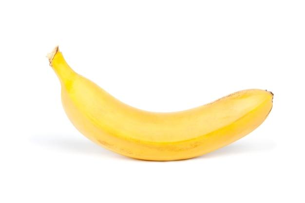 Желтый банан, изолированные на белом фоне