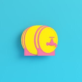 Yellow barrel with a tap in pastel colors