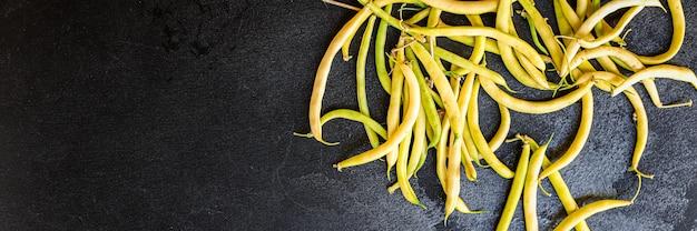 Желтая фасоль цветной ингредиент бобовых