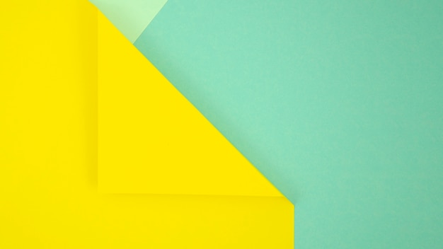Yellow and blue minimal geometric shapes and lines