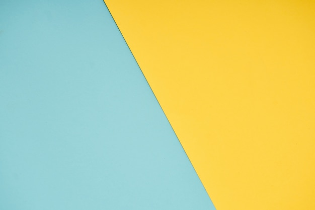 Yellow and blue pastel paper color for background