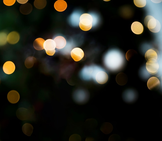 Yellow bokeh lights