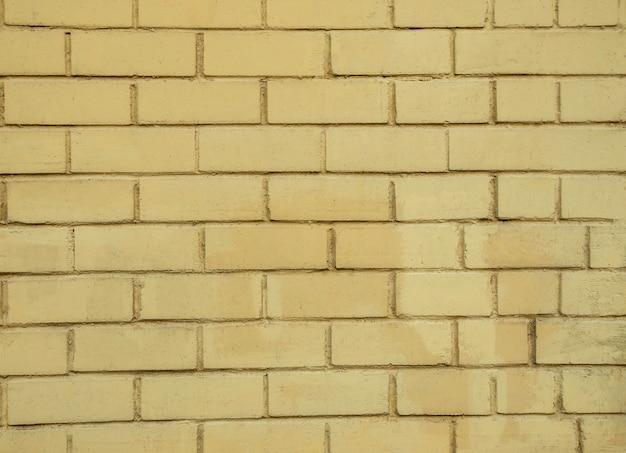 Желтая кирпичная стена фон