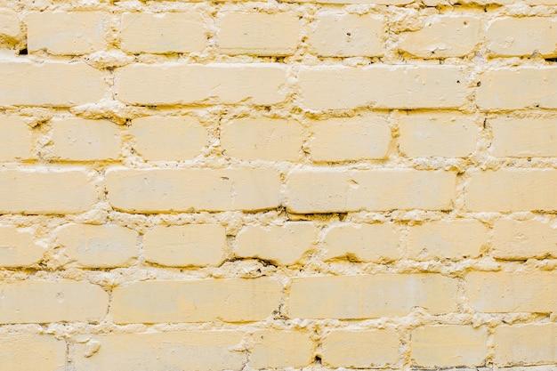 抽象的な背景の壁に黄色のレンガ パターン。