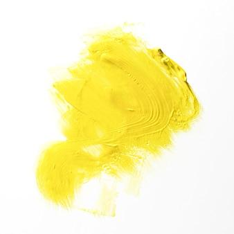 白い背景の黄色のブラシストローク