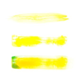 黄色のブラシストロークライン 無料写真