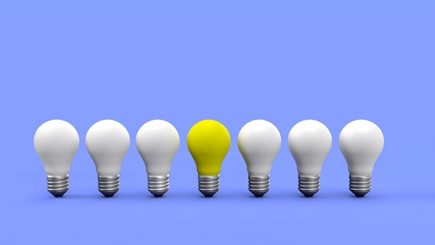 Желтая лампочка выдающаяся
