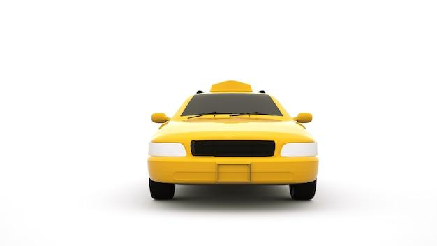 노란 차, 도시 택시.