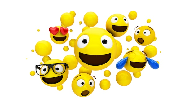 Yellow characters floating