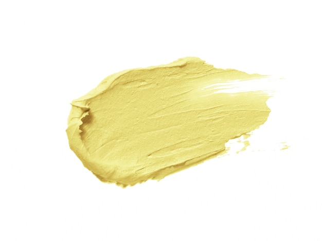 Yellow color correcting concealer stroke isolated