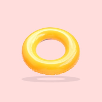 Yellow color swim rings isolated