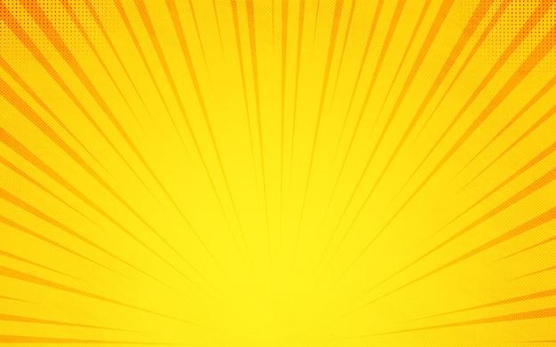 바닥에서 노란색 만화 확대/축소 다채로운 만화 배경