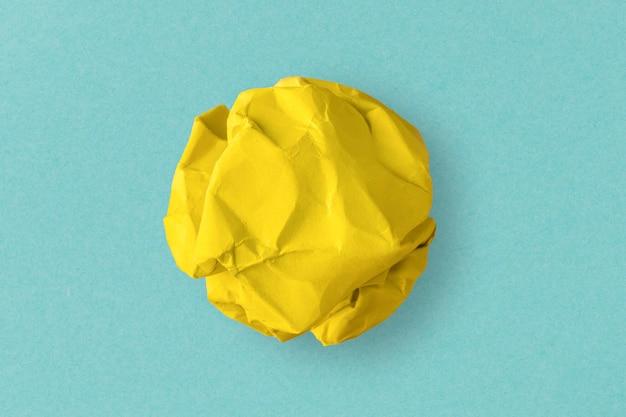 Yellow crumpled paper