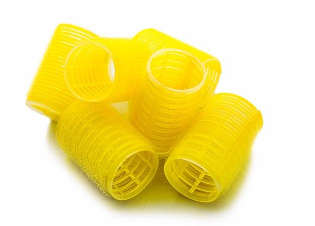 黄色いカーラー