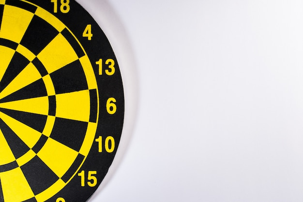 Yellow dart board