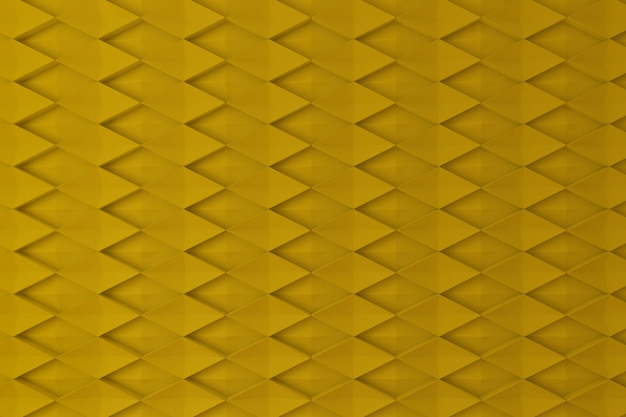Yellow diamond shape 3d wall for background, backdrop or wallpaper