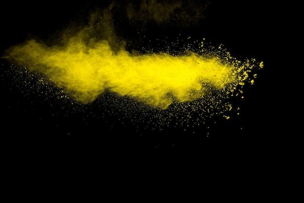 Взрыв частиц желтой пыли