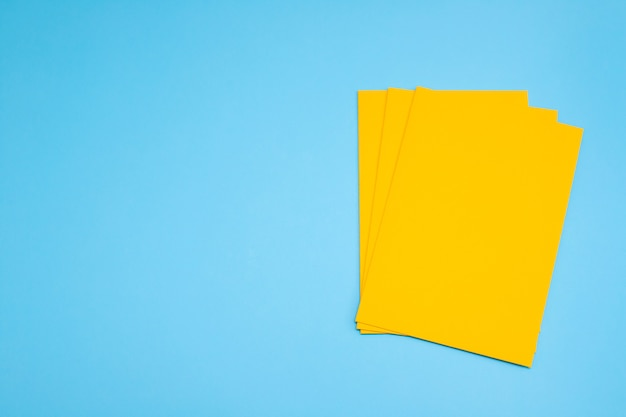 Yellow envelope on blue background