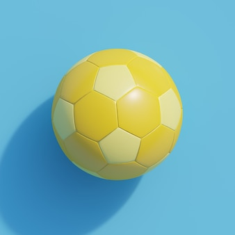 Yellow football on blue