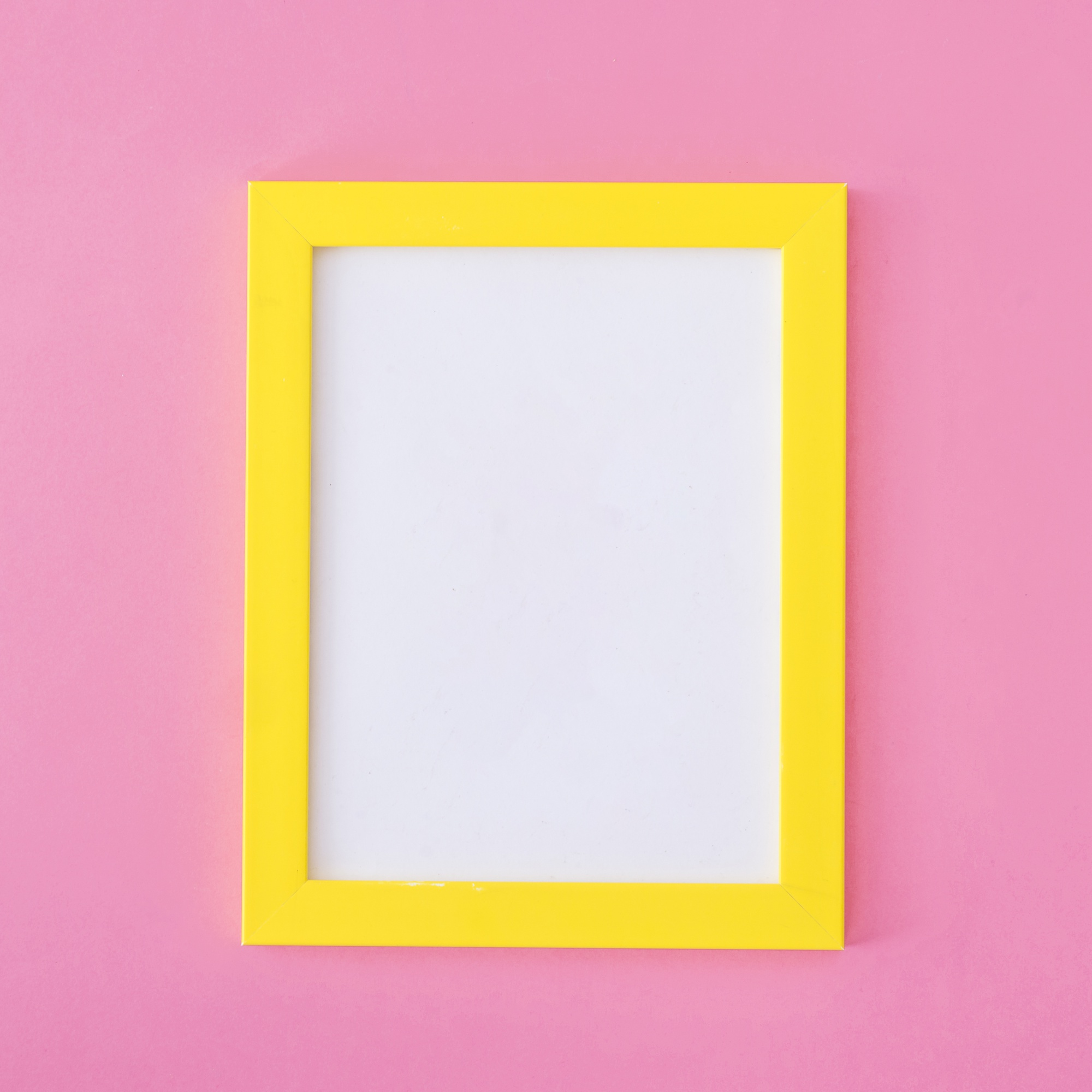 Yellow frame on pink
