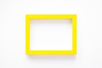 Yellow frame on white