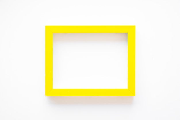 Yellow frame on white