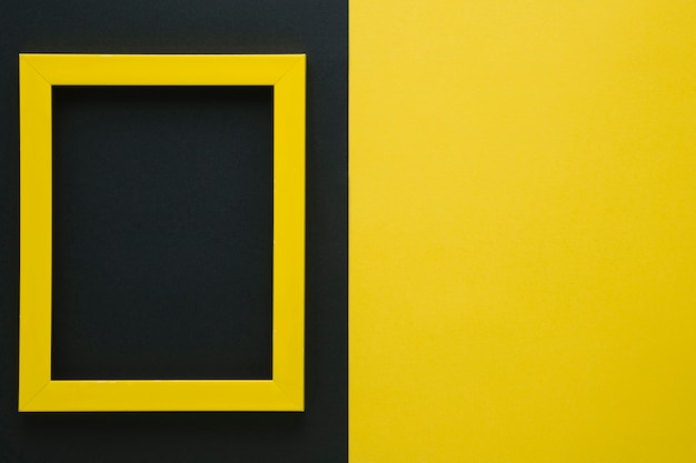 Yellow frame with copy space
