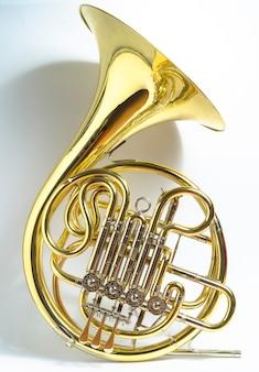 黄色のフルダブルbb \ fフレンチホルン金管楽器