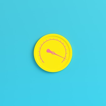 明るい青色の背景に黄色のゲージ