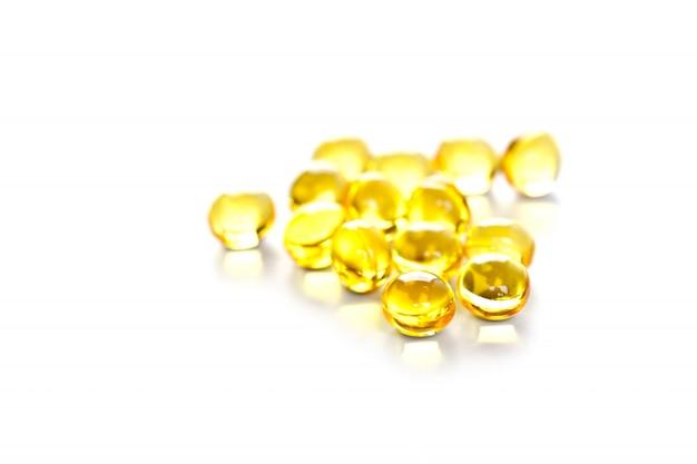 Yellow gelatin pills
