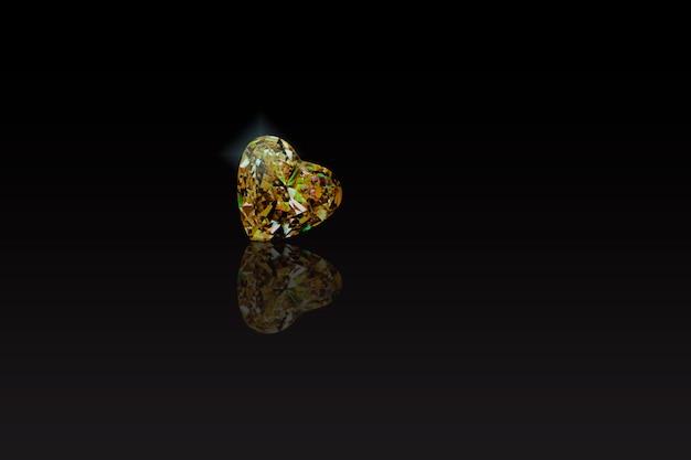 Yellow gem is a beautiful heart