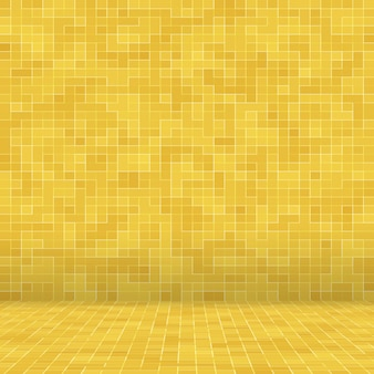 Yellow gold mosiac texture background