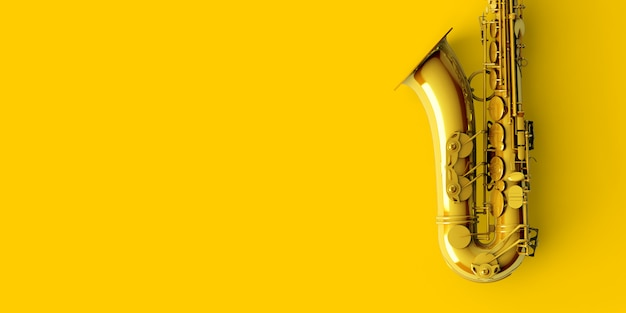 Yellow gold saxophone