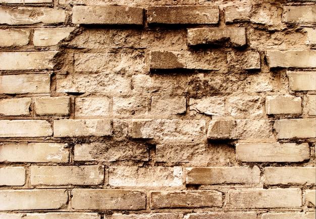 Yellow grunge brickwall